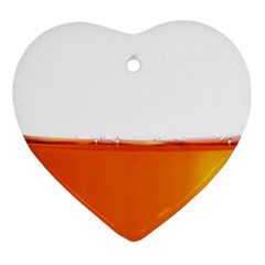 The Wine Bubbles Background Heart Ornament (two Sides)