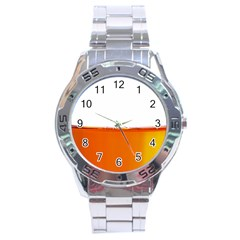 The Wine Bubbles Background Stainless Steel Analogue Watch