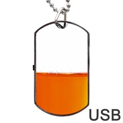The Wine Bubbles Background Dog Tag Usb Flash (two Sides) by Nexatart