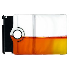 The Wine Bubbles Background Apple Ipad 2 Flip 360 Case by Nexatart