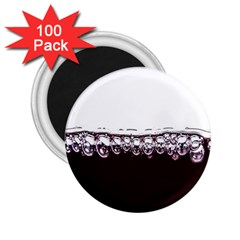 Bubbles In Red Wine 2 25  Magnets (100 Pack)  by Nexatart