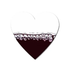 Bubbles In Red Wine Heart Magnet by Nexatart