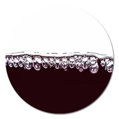 Bubbles In Red Wine Magnet 5  (round) by Nexatart