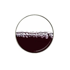 Bubbles In Red Wine Hat Clip Ball Marker (10 Pack)