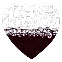 Bubbles In Red Wine Jigsaw Puzzle (heart)