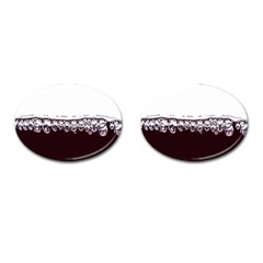 Bubbles In Red Wine Cufflinks (oval)