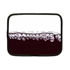 Bubbles In Red Wine Netbook Case (small)  by Nexatart