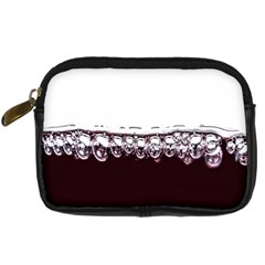 Bubbles In Red Wine Digital Camera Cases by Nexatart