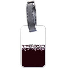 Bubbles In Red Wine Luggage Tags (one Side)  by Nexatart