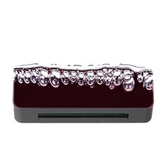 Bubbles In Red Wine Memory Card Reader With Cf by Nexatart