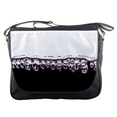 Bubbles In Red Wine Messenger Bags