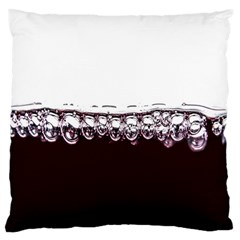 Bubbles In Red Wine Large Cushion Case (one Side)