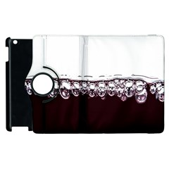 Bubbles In Red Wine Apple Ipad 3/4 Flip 360 Case by Nexatart