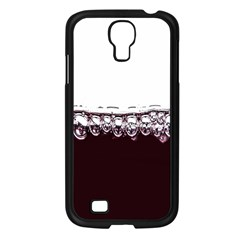 Bubbles In Red Wine Samsung Galaxy S4 I9500/ I9505 Case (black) by Nexatart