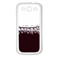 Bubbles In Red Wine Samsung Galaxy S3 Back Case (white) by Nexatart