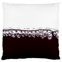 Bubbles In Red Wine Standard Flano Cushion Case (one Side) by Nexatart