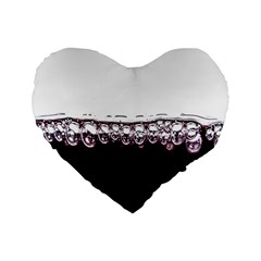 Bubbles In Red Wine Standard 16  Premium Flano Heart Shape Cushions