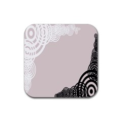 Circles Background Rubber Square Coaster (4 Pack)  by Nexatart