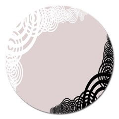 Circles Background Magnet 5  (round) by Nexatart