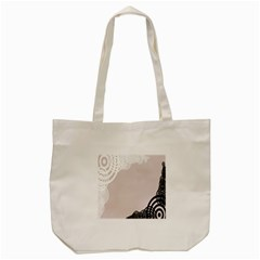 Circles Background Tote Bag (cream)