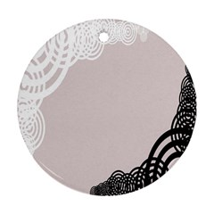 Circles Background Round Ornament (two Sides) by Nexatart