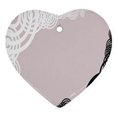 Circles Background Heart Ornament (two Sides) by Nexatart