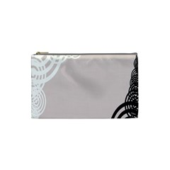 Circles Background Cosmetic Bag (small)