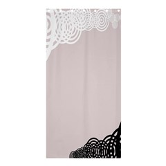 Circles Background Shower Curtain 36  X 72  (stall)