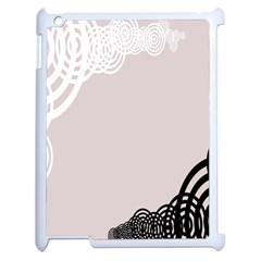 Circles Background Apple Ipad 2 Case (white) by Nexatart