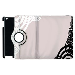 Circles Background Apple Ipad 3/4 Flip 360 Case