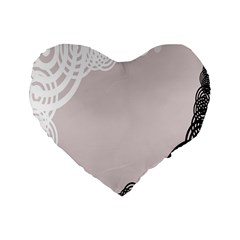 Circles Background Standard 16  Premium Flano Heart Shape Cushions by Nexatart