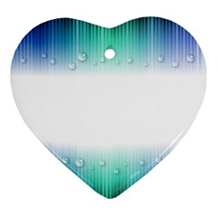 Blue Stripe With Water Droplets Ornament (heart)