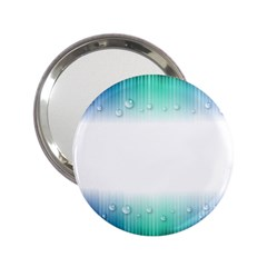 Blue Stripe With Water Droplets 2 25  Handbag Mirrors