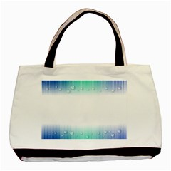 Blue Stripe With Water Droplets Basic Tote Bag (two Sides)