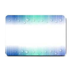 Blue Stripe With Water Droplets Small Doormat