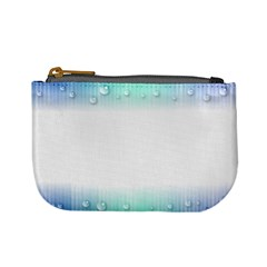 Blue Stripe With Water Droplets Mini Coin Purses by Nexatart