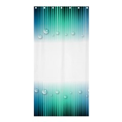 Blue Stripe With Water Droplets Shower Curtain 36  X 72  (stall)