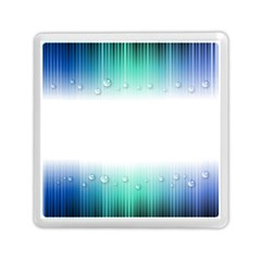 Blue Stripe With Water Droplets Memory Card Reader (square)  by Nexatart