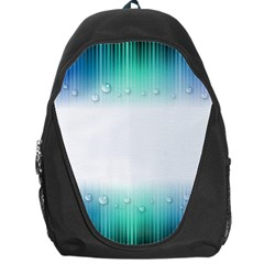 Blue Stripe With Water Droplets Backpack Bag by Nexatart
