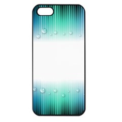 Blue Stripe With Water Droplets Apple Iphone 5 Seamless Case (black)