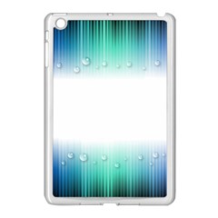 Blue Stripe With Water Droplets Apple Ipad Mini Case (white)