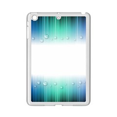 Blue Stripe With Water Droplets Ipad Mini 2 Enamel Coated Cases