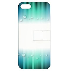 Blue Stripe With Water Droplets Apple Iphone 5 Hardshell Case With Stand by Nexatart