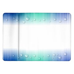 Blue Stripe With Water Droplets Samsung Galaxy Tab 10 1  P7500 Flip Case