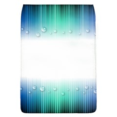 Blue Stripe With Water Droplets Flap Covers (l)