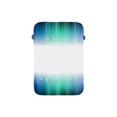 Blue Stripe With Water Droplets Apple Ipad Mini Protective Soft Cases by Nexatart