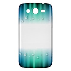Blue Stripe With Water Droplets Samsung Galaxy Mega 5 8 I9152 Hardshell Case