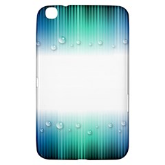 Blue Stripe With Water Droplets Samsung Galaxy Tab 3 (8 ) T3100 Hardshell Case