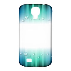 Blue Stripe With Water Droplets Samsung Galaxy S4 Classic Hardshell Case (pc+silicone)