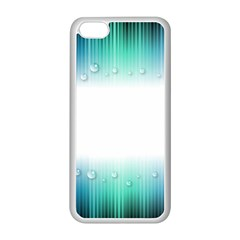 Blue Stripe With Water Droplets Apple Iphone 5c Seamless Case (white) by Nexatart